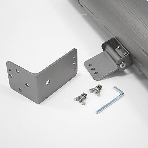 VASNER Appino BEATZZ Grau Grey Infrarotstrahler dimmbar 2000 Watt mit Bluetooth, LED Backlight Licht, Musik-Lautsprecher Außenbereich - 6