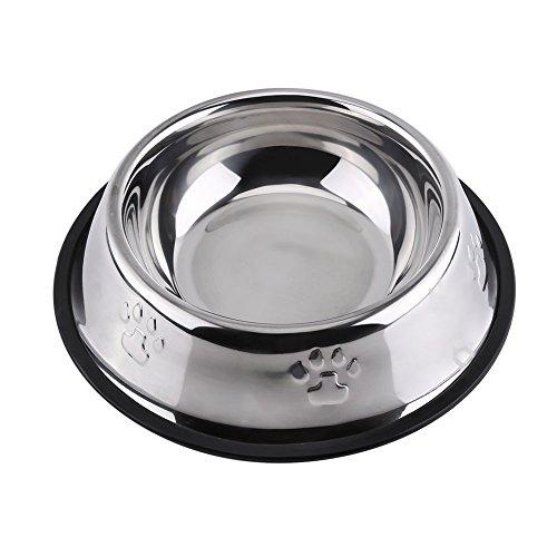 Yosoo Pet Bowl Roestvrij Staal Poot Print Feeding Bowl Hond Kat Voedsel Water Bowl Feeding Schaal Voor Thuis En Reizen Gebruik