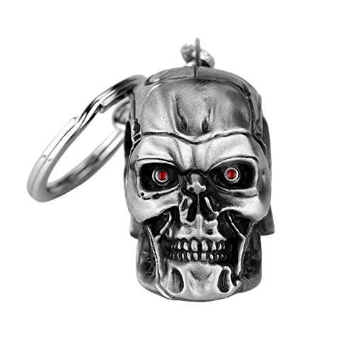 Terminator Schlüsselanhänger Metall Figur 3D Totenkopf Roboter – 4,5 cm