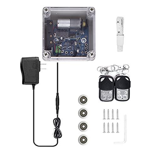 Regulador automático para puerta de gallinero con temporizador y sensor de luz, mando a distancia