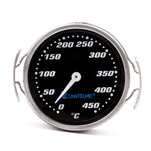 Lantelme 7730 Barbecuerooster, thermometer, roestvrij staal, temperatuur 0 tot 450 °C, analoog, grillrooster