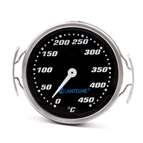 Lantelme 6012 Grilldeksel, thermometer, 450 °C, analoog, rookoven, analoog, BBQ, grillaccessoires voor inbouw of eigen bouw