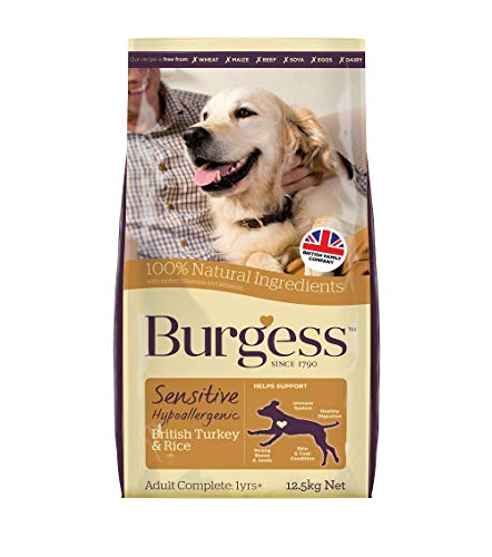 Burgess Sensitive Hypoallergenic Dog Food Adult British Turkey and Rice 12.5kg