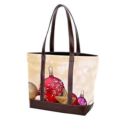 NaiiaN Frohe Weihnachten Sterne Schneeflocken Geldbörse Einkaufstasche Leichter Riemen für Mutter Frauen Mädchen Damen Student Umhängetaschen Handtaschen