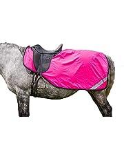 Dark Horse - Hoja de ejercicio para caballo (reflectante, de alta visibilidad), color rosa