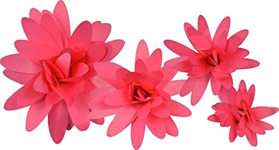 Little B 58 Piece 100490 Paper Flower Petal Pack, Bright Pink Daisy