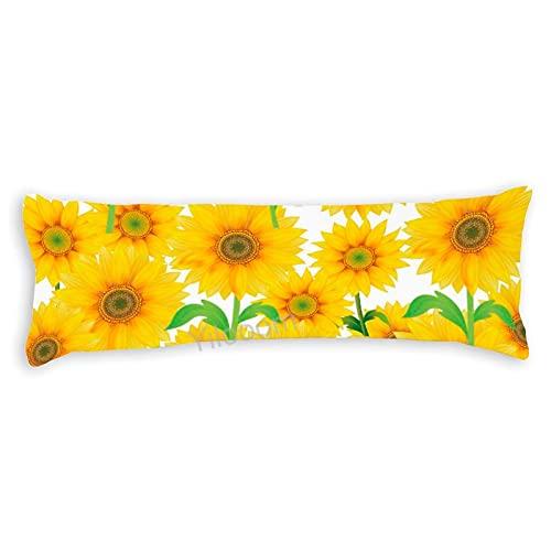 Funda de almohada para el cuerpo con cremallera Funda de almohada para decoración del hogar 50 x 59 pulgadas, girasol # c118