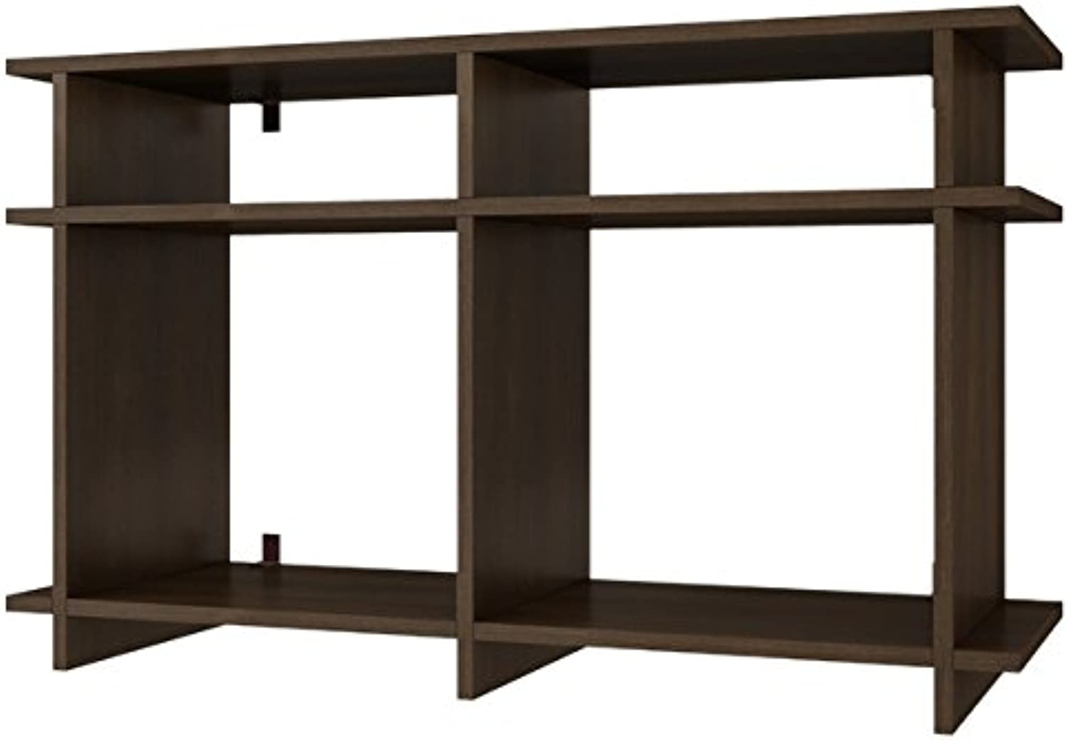 Manhattan Comfort Accentuations by Suitable Wellington TV Stand with 4 Open Shelves in Tobacco