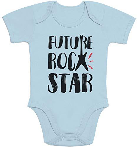 Baby Musik Geschenk Future Rock Star Baby Body Kurzarm-Body 12-18 Monate Hellblau
