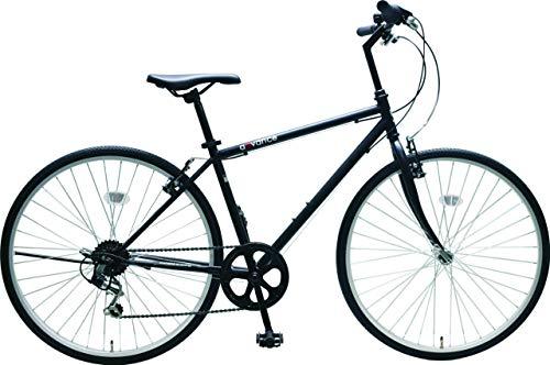【セット品】ARCHNESS CRB267V クロスバイク 26インチ 選べるワイヤーロック【2点セット】 (自転車カラー:ホワイト&鍵カラー:ネオンイエロー)