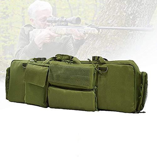 Mochila de rifle táctica, bolsa de rifle doble con gran capacidad, tela impermeable, cojín de pedestal, material de nylon, bolsa de aparejos de pesca para disparar, entrenamiento de simulación,A