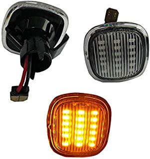Amber Led Dynamic Side Marker Light, Car Work Box Clear Lens Turn Signal Sequential Blinker Light for Audi A3 8L A4 8D A4 S4 B5 (2 Pack)