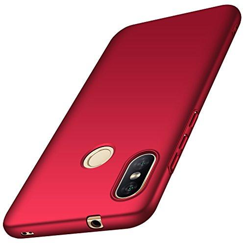 Anccer Cover Xiaomi Mi A2 Lite, [Alta Qualità] [Ultra Slim] Anti-Scratch Hard PC Case Custodia per Xiaomi Mi A2 Lite (Rosso Liscio)