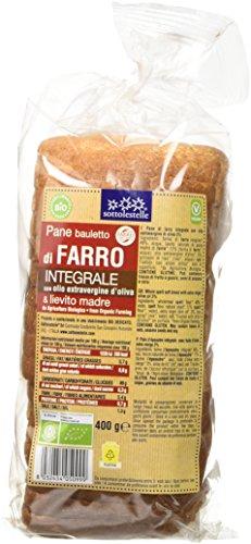 Sottolestelle Pane Bauletto di Farro Integrale - 3 pezzi da 400 g [1200 g]