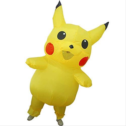1yess Da de los Hijos de Padre-Hijo Pikachu Cosplay Prop mueca de la Historieta Ropa de la mueca Inflable Pikachu inflables Ropa Modelo
