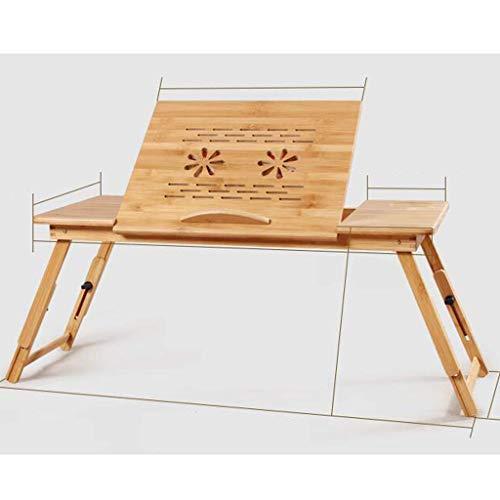 HYY-YY Escritorio para ordenador portátil, cama de escritorio, plegable, mesa perezosa, escritorio pequeño, bambú