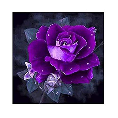Hölzern Puzzles für Kinder 1000 Stück-3D-Puzzles für Erwachsene-Kinder-Puzzzeln-Riesenboden-Puzzles-Kinder-Puzzle-Puzzles Alter 5-7-Weihnachtsgeschenk-Purple Rose-50x75cm