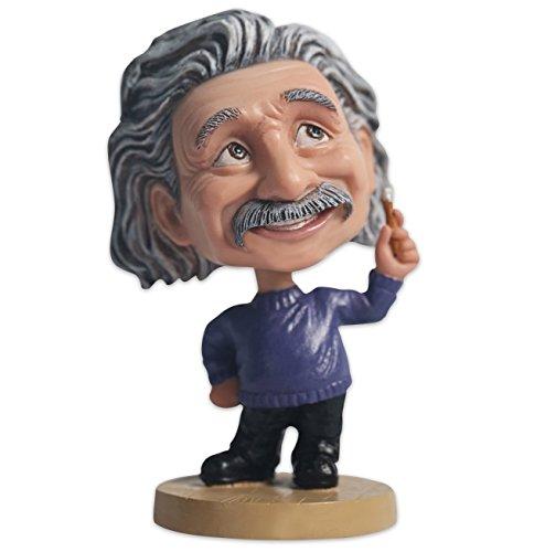 Ozuko Albert Einstein Wackelkopffigur für Auto-Armaturenbrett, Schreibtisch oder als Dekoration für zu Hause., blau, M
