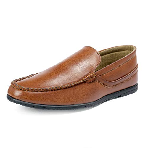 Bacca Bucci® Mens Loafers-Italian Dress Casual Loafers for Men Slip-on Driving Shoes-Tan