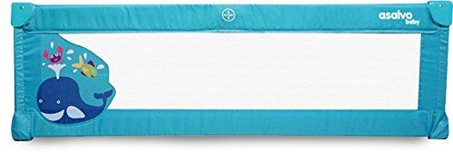 Barrière de lit Baby Fox 140 cm Baleine - Bleu