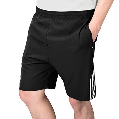 LESGO ハーフパンツ メンズ ショートパンツ ランニング ショーツ フィットネスパンツ 速乾 半ズボン ポケット付き 調整紐 カジュアル バドミントン テニスパンツ 4XL
