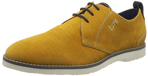 bugatti 311919011400, Scarpe Stringate Derby Uomo, Giallo (Yellow 5000), 45 EU
