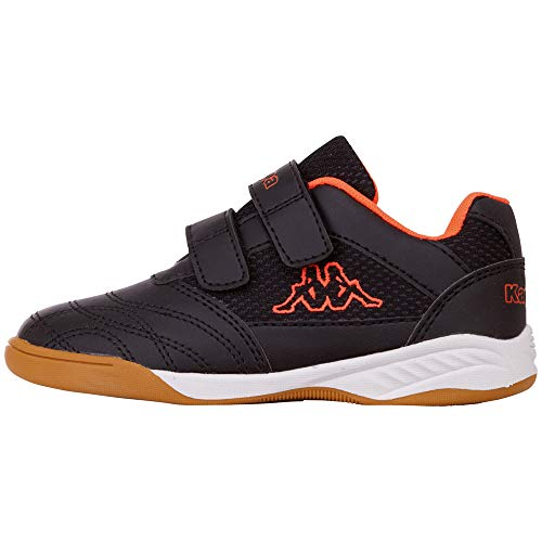 Kappa Unisex-Kinder Kickoff Multisport Indoor Schuhe, Schwarz (Black/Orange 1144), 30