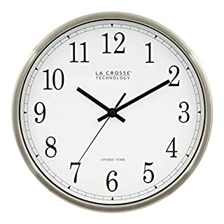 La Crosse Technology WT-3126B 12-Inch Atomic Analog Wall Clock, Aluminum (B00008T95Z) | Amazon price tracker / tracking, Amazon price history charts, Amazon price watches, Amazon price drop alerts