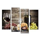 islandburner Bild Bilder auf Leinwand Wein und Käse