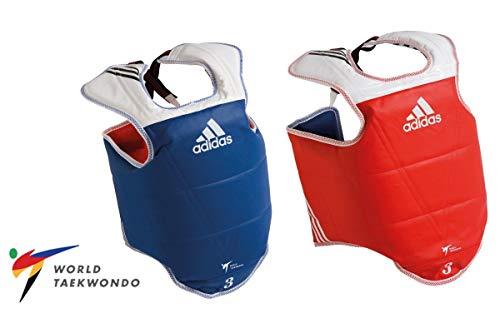 adidas WT Taekwondo Martial Arts TKD Body Protector Chest Guard Kampfsport Körperschutz Brustschutz, blau, m