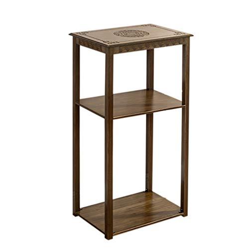 LXYStands Bloementrap, multifunctionele bijzettafel, nachtkastje, salontafel, bloemenkruk, 2/3 niveaus, bamboe, tafeltjes met planken (M/L)