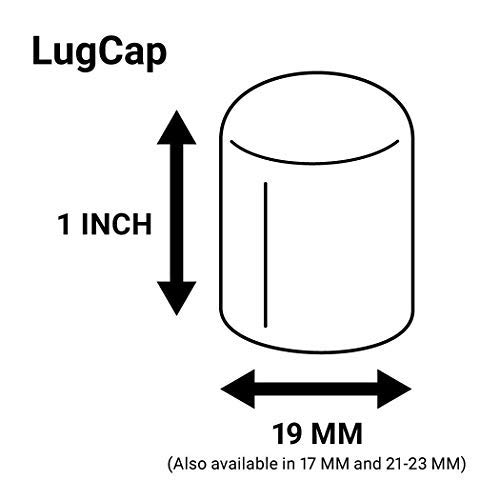 ColorLugs Vinyl LugCap Lug Nut Cover Black | Flexible Fit Lug Nut Cap | Fits 19mm Wide x 1 Inch deep | Pack of 20 & Deluxe Extractor | Available in a Variety of Colors and Sizes | Made in The USA