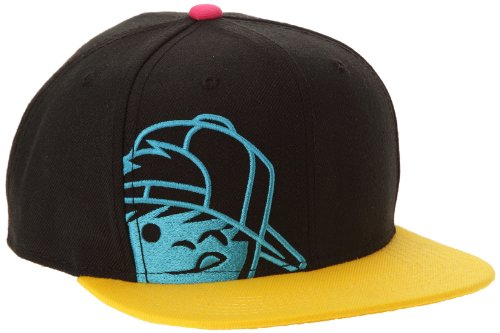 NEFF Kenny Corpo Caps Casquette Mixte Adulte, Black/Yellow/Cyan, FR : (Taille Fabricant : Adjustable)