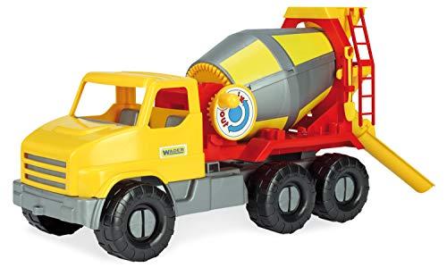 Wader 32606 - City Truck Betonmischer mit drehbarer Mischtrommel, ab 3 Jahren, ca. 50 cm, ideal als Geschenk für kreatives Spielen