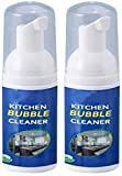 2 Pack kitchen bubble cleaner foam spray,All-Purpose Cleaning Bubble Spray Multi-Purpose Foam Kitchen Grease Cleaner? for Kitchen Bath Laundry Cooktops 30ml