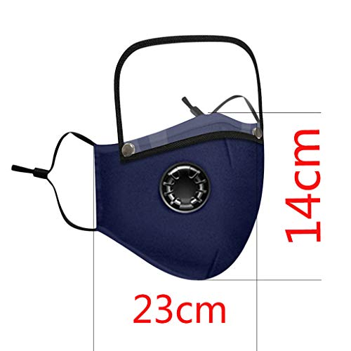 Reusable Face Covering with Breathing Valve Filter And Detachable Eye Shield Seamless Face Bandanas For Adults and Kids 4