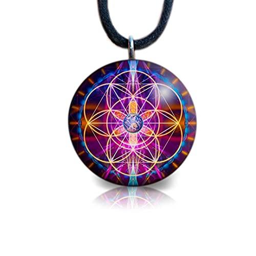 Sacred Geometry Orgone Pendant | Flower of Life | Orgonite Necklace |...
