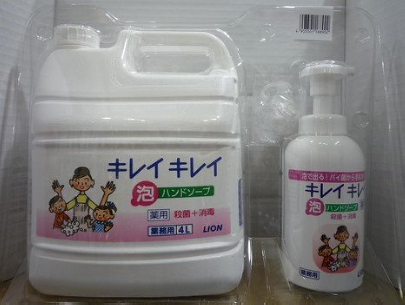 肝気難しい繁雑キレイキレイ 薬用泡ハンドソープ 業務用 4L+キレイキレイ 薬用泡ハンドソープボトル550ml