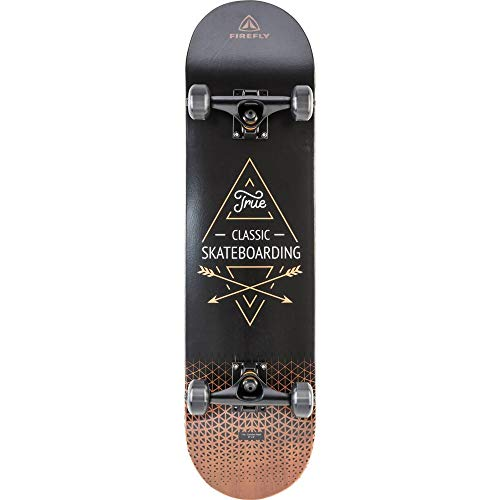FIREFLY Unisex – Erwachsene SKB 900 Skateboard, Black/Brown/White, One Size