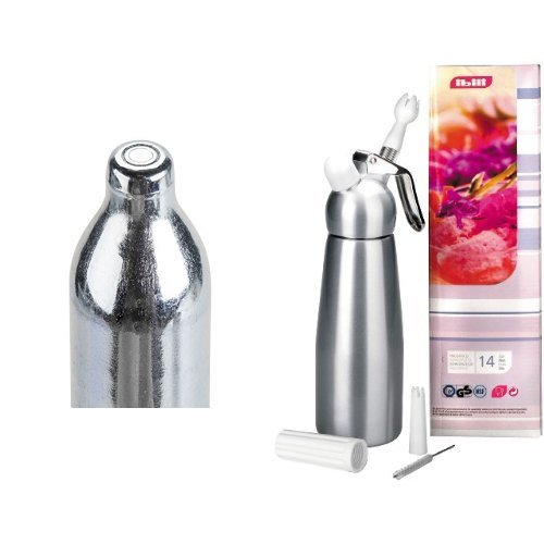 Ibili - Sifón de nata Silver aluminio 1 litro + cargador - caja 10 pcs.