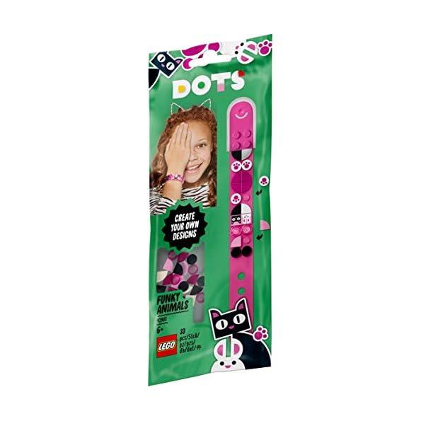 LEGO-Dots-Braccialetto-Animaletti-Funky-Kit-di-Gioielli-Creativi-con-32-Applicazioni