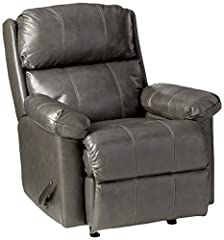Covered in a soft wonderful leather / leather match cover. Pad over chaise with zippered, two pillow back and padded top arms Royal Zero Gravity mechanism that supports legs, back, and neck to reduce stress giving this recliner superior comfort Made ...