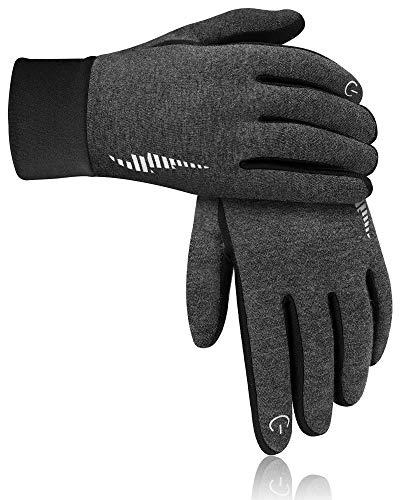 DB DEGBIT Winter Gloves, Anti-Slip Ski Workout Gloves Men Women Full Finger (Grey, X-Large)