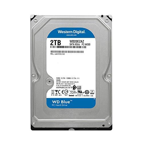 WD Blue 2TB PC Hard Drive - 5400 RPM Class, SATA 6 Gb/s, 256 MB Cache, 3.5