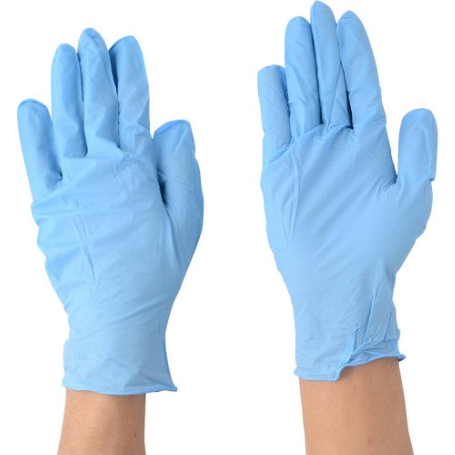 眠っている挑発するベギン川西工業 ニトリル 極薄手袋 ストロング 粉なし 100枚入 #2037 ブルー SS