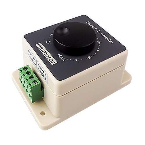 Onyehn PWM DC 10-60V Motor Speed Controller 12V 24V 36V 48V 20A High Power HHO Driver Module RC Speed Regulator Stepless Variable Rotary Switches Pulse Width Modulator Waterproof Shell