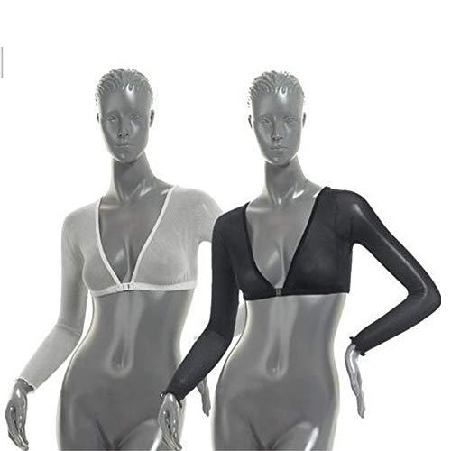 XL KNOSSOS 2pcs Manica del Braccio Shapewear Crop Top Slimming Control Arm Trainer Nero