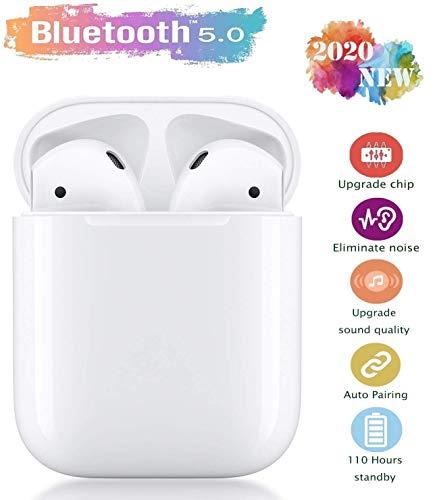 Auricolari Bluetooth 5.0 Auricolari Senza Fili, IPX5 Impermeabile 24H Playtime Vero Wireless Cuffie Sport,riduzione del rumore stereo 3D HD, per cuffie Apple AirPods Pro/Android/iPhone/Samsung/Huawei