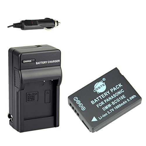 DSTE Replacement for DMW-BCG10 DMW-BCG10E Battery + DC57 Travel and Car Charger Adapter Compatible Panasonic Lumix DMC-ZS10 ZS15 ZS19 ZS20 ZS25 ZX3 TZ8 TZ10 TZ18 TZ19 TZ20 TZ25 ZR1 ZR3 Camera