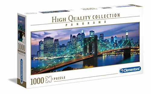 Clementoni 39434 New York Brooklyn Bridge Panorama Puzzle, 1000 Teile, für Erwachsene und Kinder ab 14 Jahre